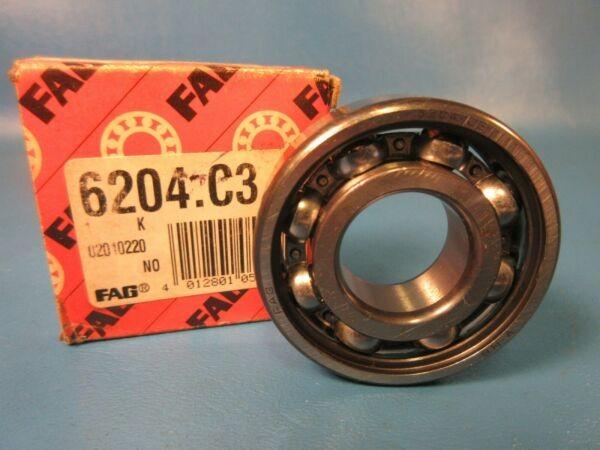 FAG 6204 C3 Single Row Deep Groove Ball Bearing 6204C3 (Koyo, Timken, INA, NSK)